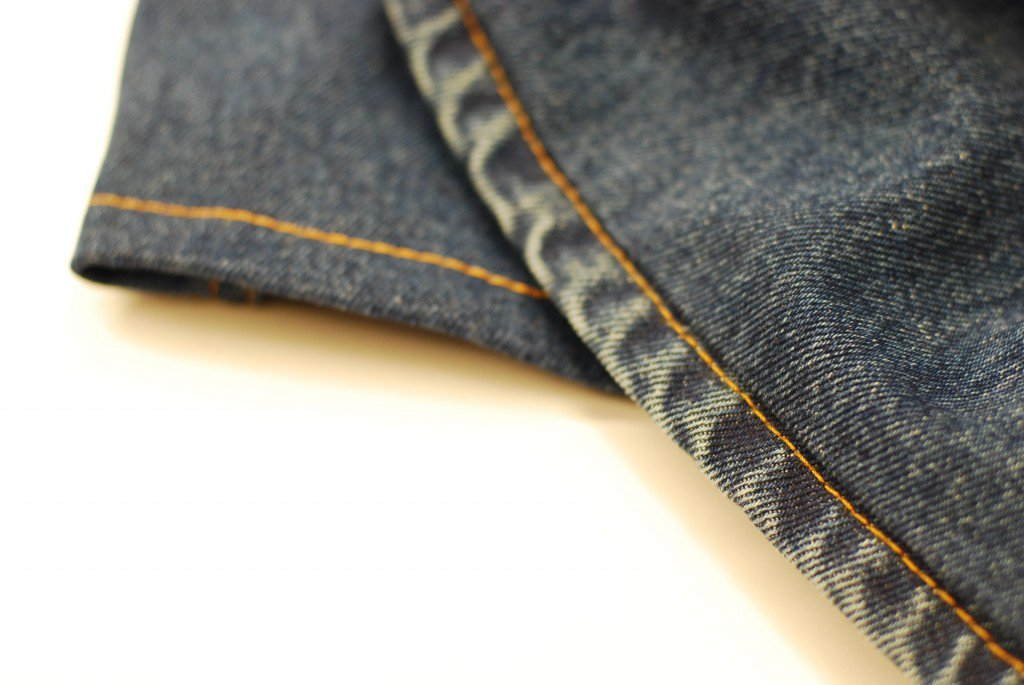 Hemline of Blue Jeans