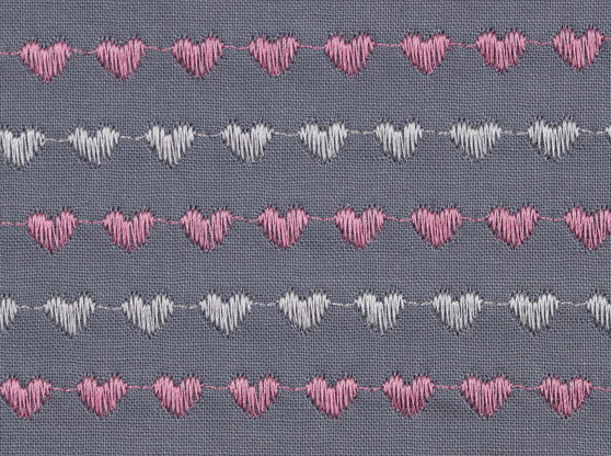 REVERSED SATIN HEART STITCH - DECORATIVE