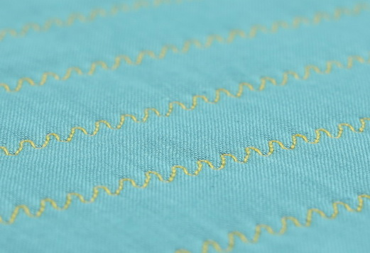 ANGLED WAVES STITCH - Quilting