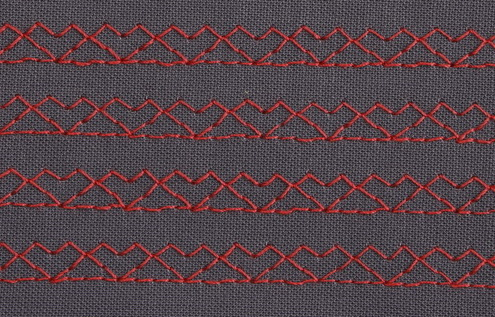 REVERSED DOUBLE PEAK STITCH - DECORATIVE