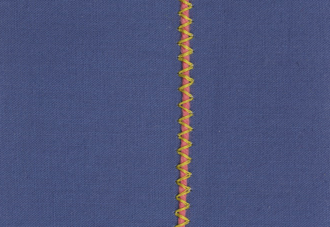 REINFORCED ZIGZAG STITCH-Couching