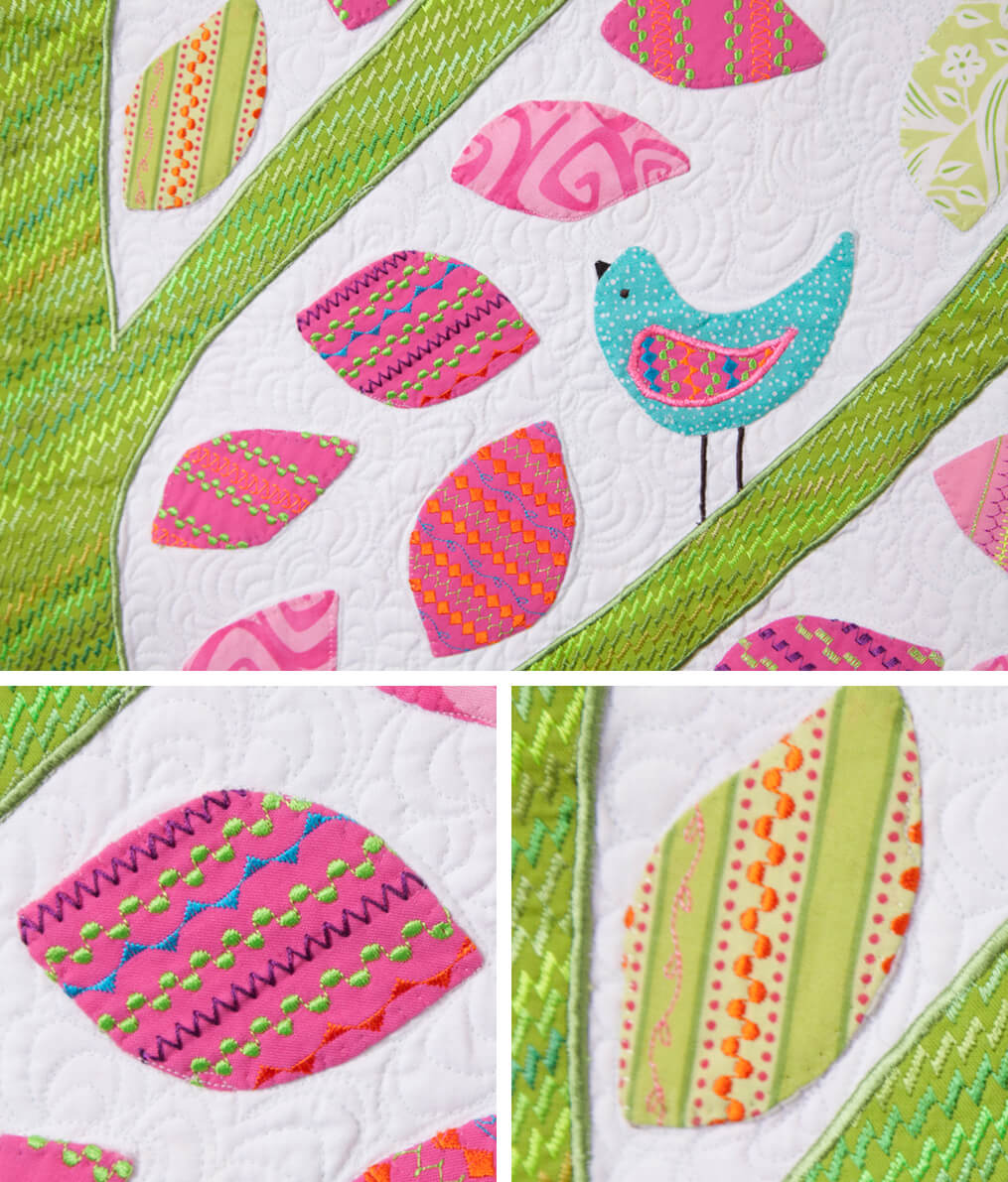 Bird Quilt with eggs
