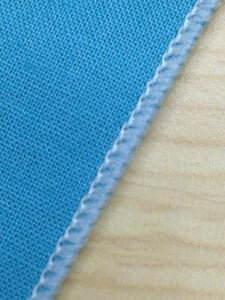 Textured nylon thread in upper and lower looper
