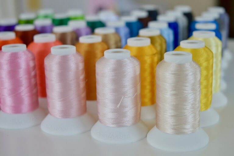 Spools of Thread with Multiple Colors