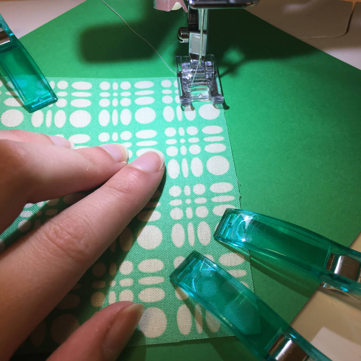 Sewing Fabric on Cards
