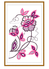 Embroidery Design Layout Single Design