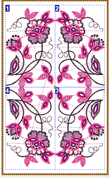 Embroidery Design Layout Single Design 2