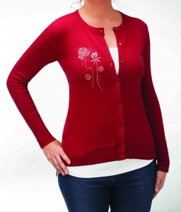 Embroider sweater knits