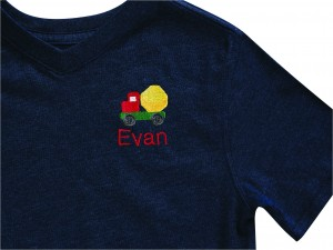 Embroider T-Shirt with Truck