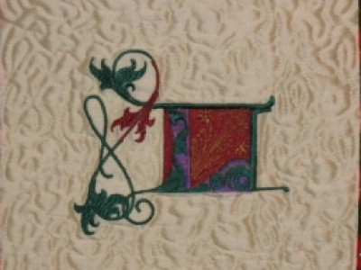 "NOEL Christmas Banner ""L"" Free Embroidery Design"