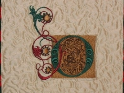 "NOEL Christmas Banner ""O"" Free Embroidery Design"