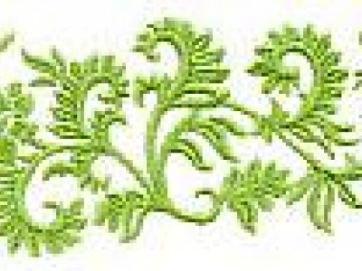 Floral Border Free Embroidery Design