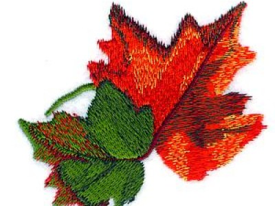 Autumn Leaves Free Embroidery Design