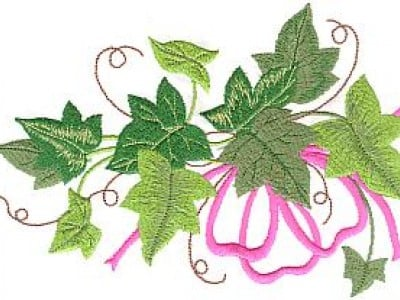 Christmas Ivy Free Embroidery Design