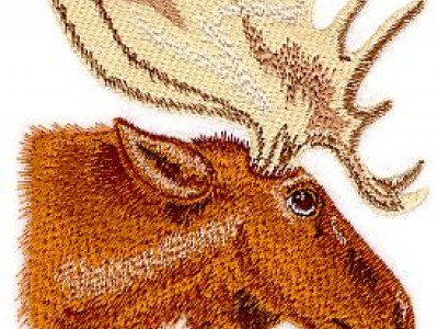 Mighty Moose Free Embroidery Design
