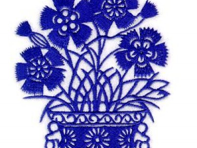 Flower Pot Free Embroidery Design