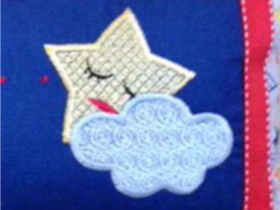 Sleeping Star Embroidery Design