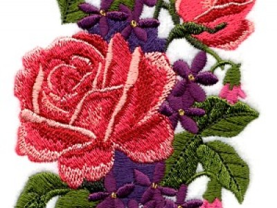Rose Bouquet Free Embroidery Design