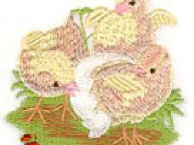 Charming Chicks Free Embroidery Design