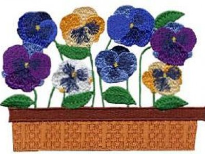 Pretty Pansies Free Embroidery Design