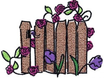 Roses on the Vine Free Embroidery Design