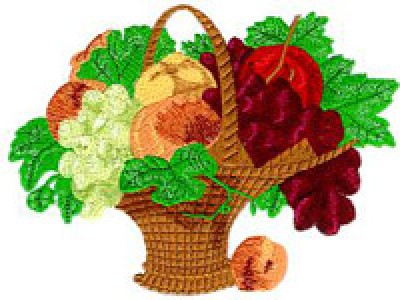 Fabulous Fruit Basket Free Embroidery Design