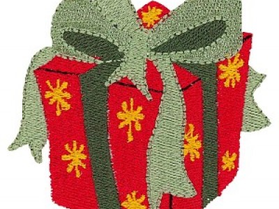 Gift Box Free Embroidery Design