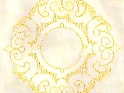 Scolled Medallion Free Embroidery Design