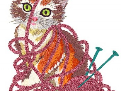 Kitten Free Embroidery Design
