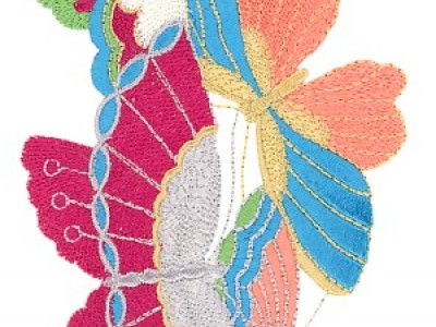Butterflies Free Embroidery Design