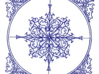 Corner Medallion Free Embroidery Design