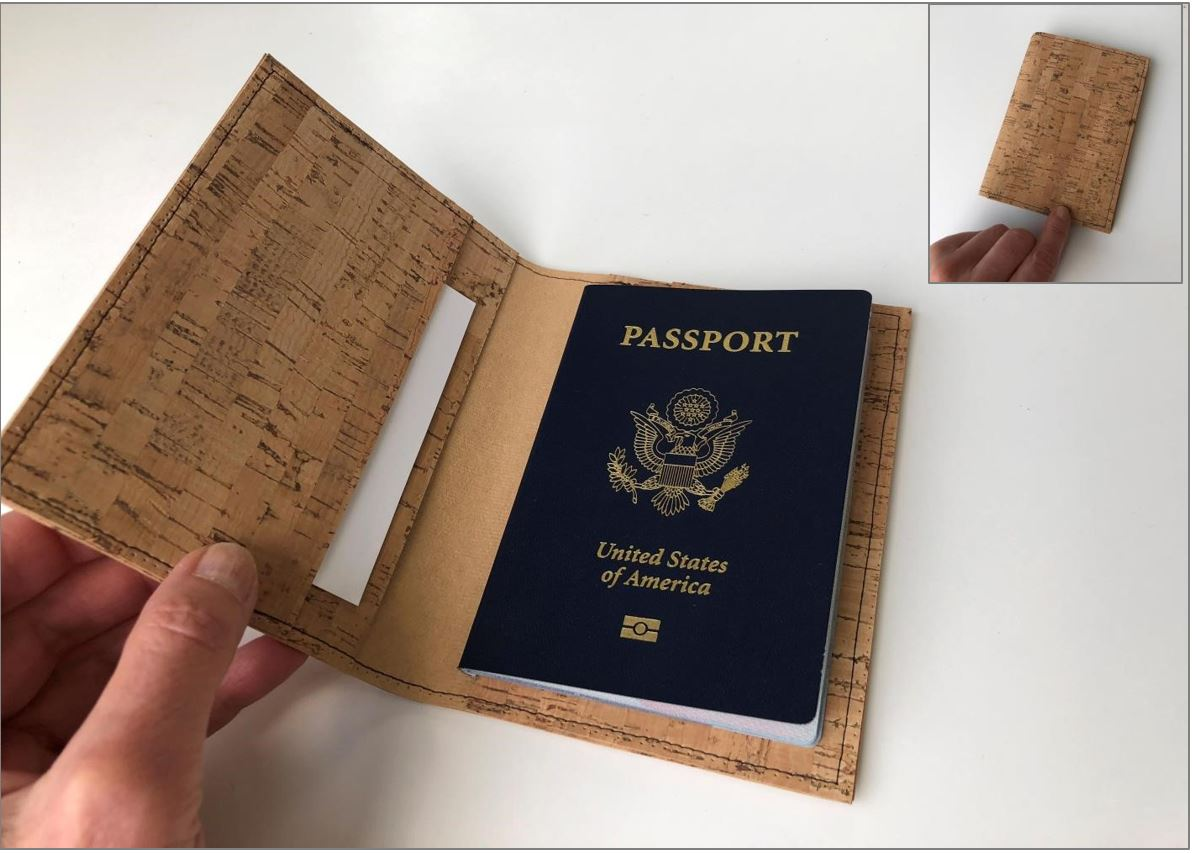 Cork Passport Cover Photo