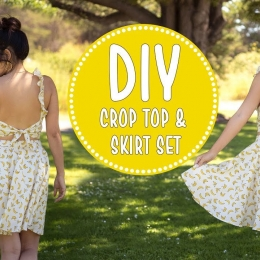 DIY Crop Top and Skirt Set sew&tell