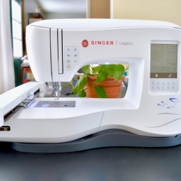 littlest studio Singer SE300 Sewing and Embroidery Machine