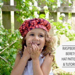Raspberry Beret Hat Tutorial and Patterns